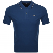CP Company Short Sleeved Polo T Shirt Blue
